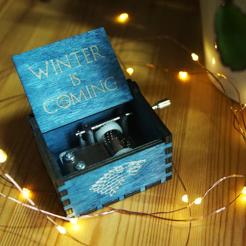 "GoT - ""Winter is Coming"" Handmade Wooden Music Box"