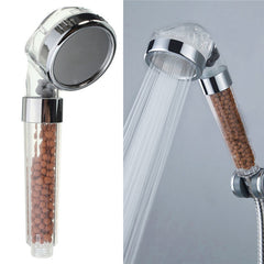 Ionic Shower Head - 35% water-saving, filtered, anti bacterial