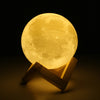 Image of 3D Designer Moon Night Lamp - LED Moon Light with Stand