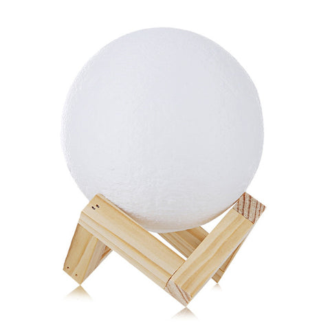3D Designer Moon Night Lamp - LED Moon Light with Stand