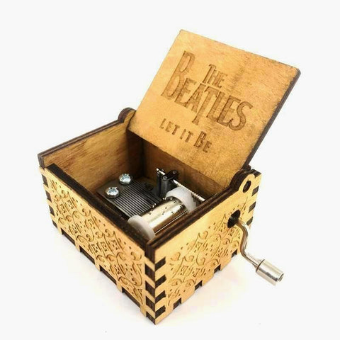 "The Beatles - ""Let it Be"" Handmade Wooden Music Box"