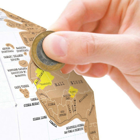 3D Scratch Globe - MUST HAVE for every Travel Lover!
