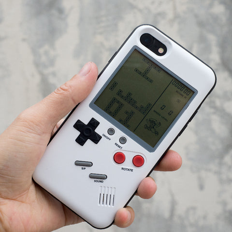 working Retro Tetris on Gameboy iPhone Case