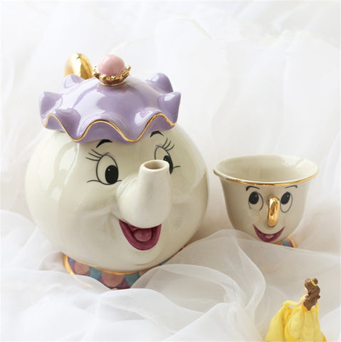 Mrs. Potts & Chip - Tea Pot & Cup Set - Beauty and the Beast Tea Set