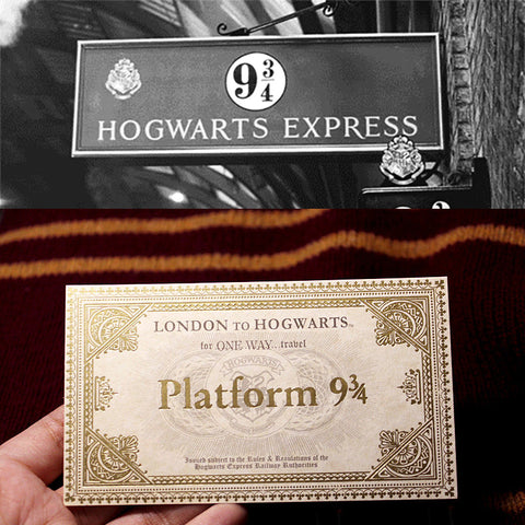 Original Harry Potter Hogwarts Express Train Ticket