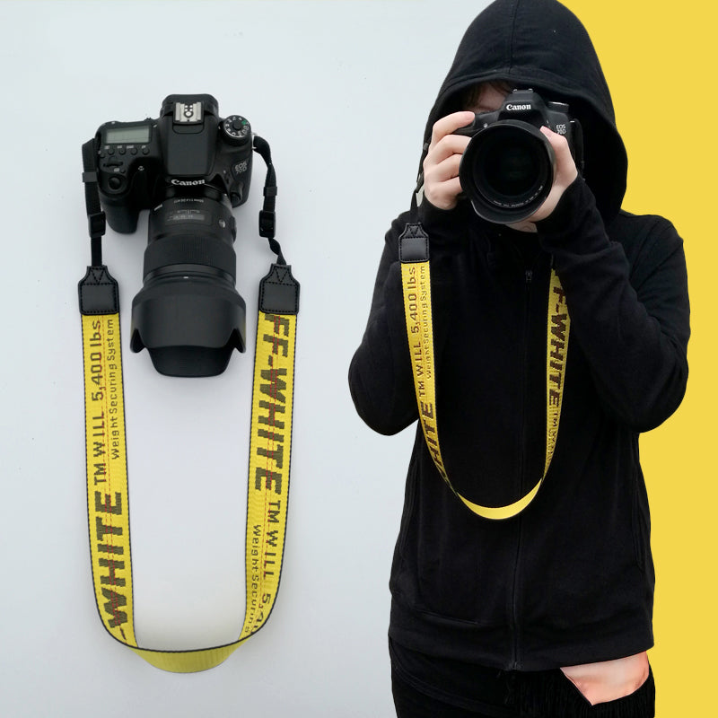 OFF-WHITE Camera Strap for Canon, Nikon, Sony, Leica, Olympus, Panasonic and more