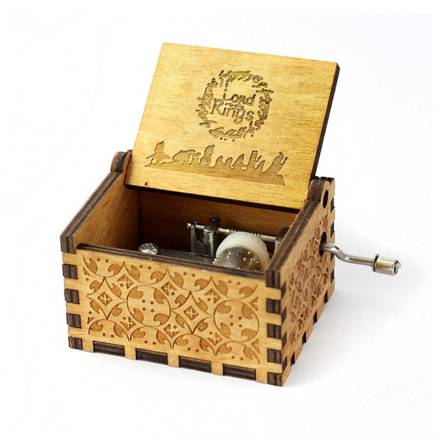 Lord of the Rings Handmade Wooden Music Box