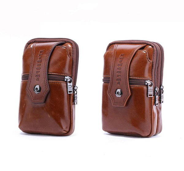 Genuine Leather Men Phone Pouch