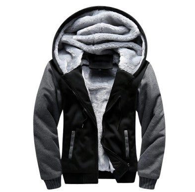 Men Hooded Winter Thickened Warm Jacket