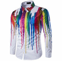 Ink Splash Paint Color Shirt. 4 color types available