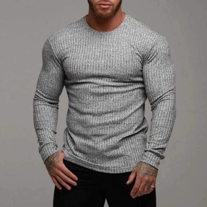 Muscle Fit Knit Sweater