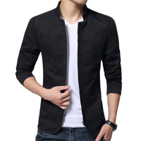 British Style Solid Casual Jacket