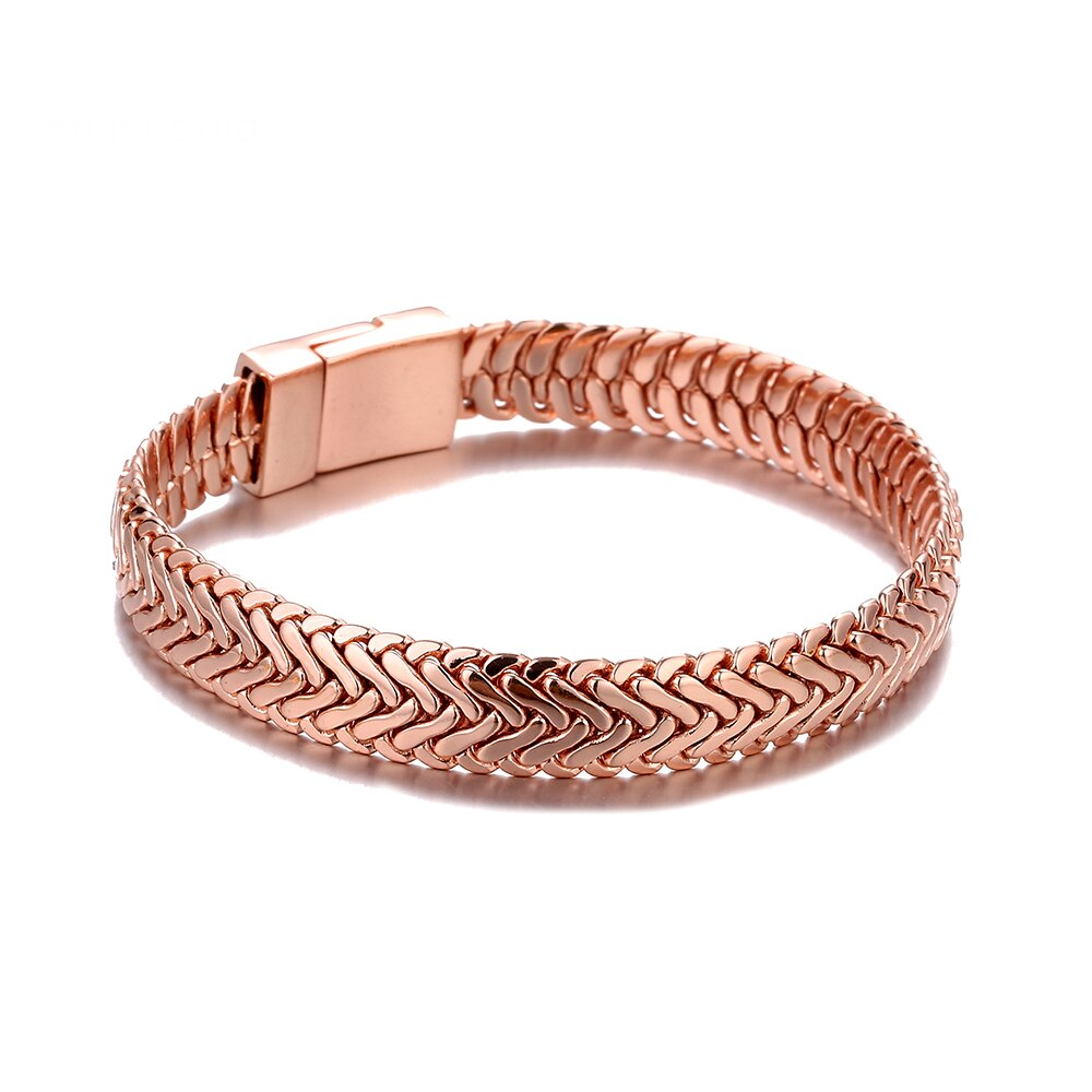Simple Gold and Rose Gold Bracelet