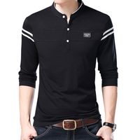 Solid Stand Collar T-Shirt
