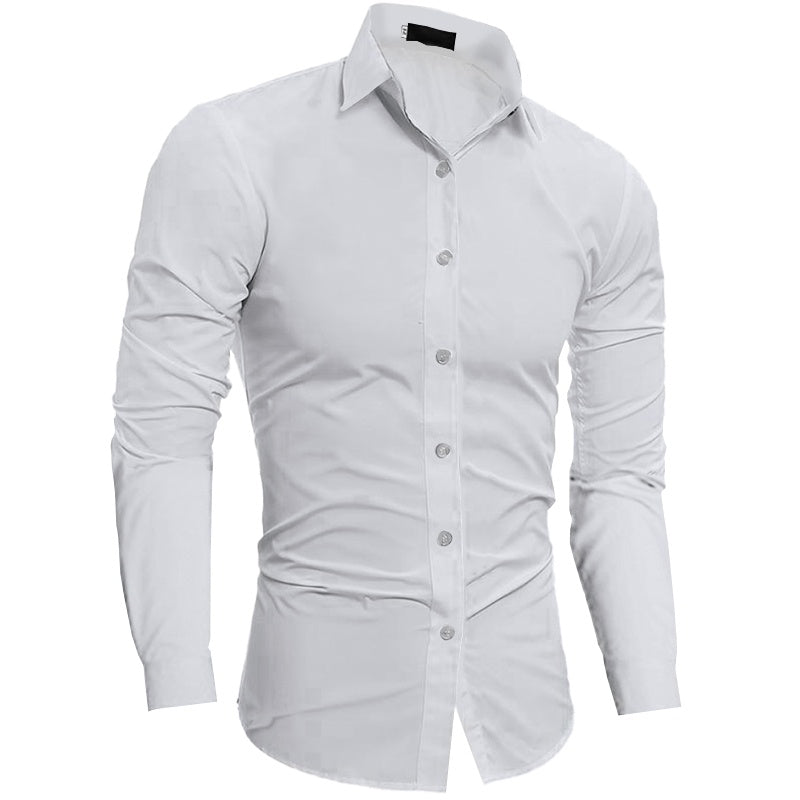 Plain Slim Fit Button Shirt