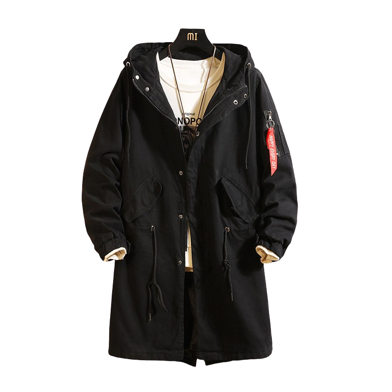 Hooded Mid-Length Coat