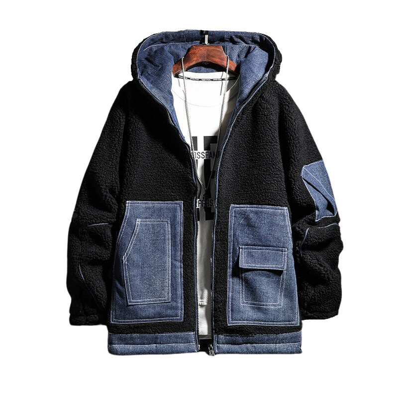 Denim Pocket Wool Jacket