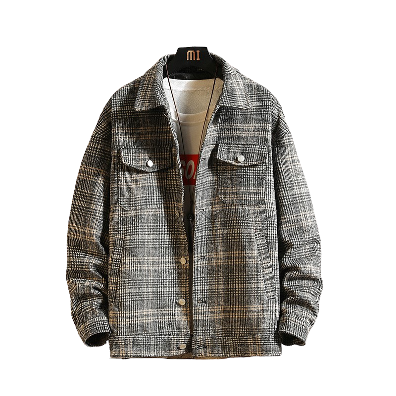 Mid Season Plaid Jacket