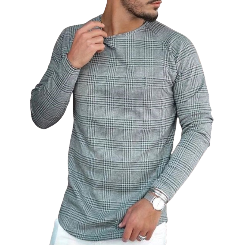 Elegant Checkered Long Sleeve Shirt