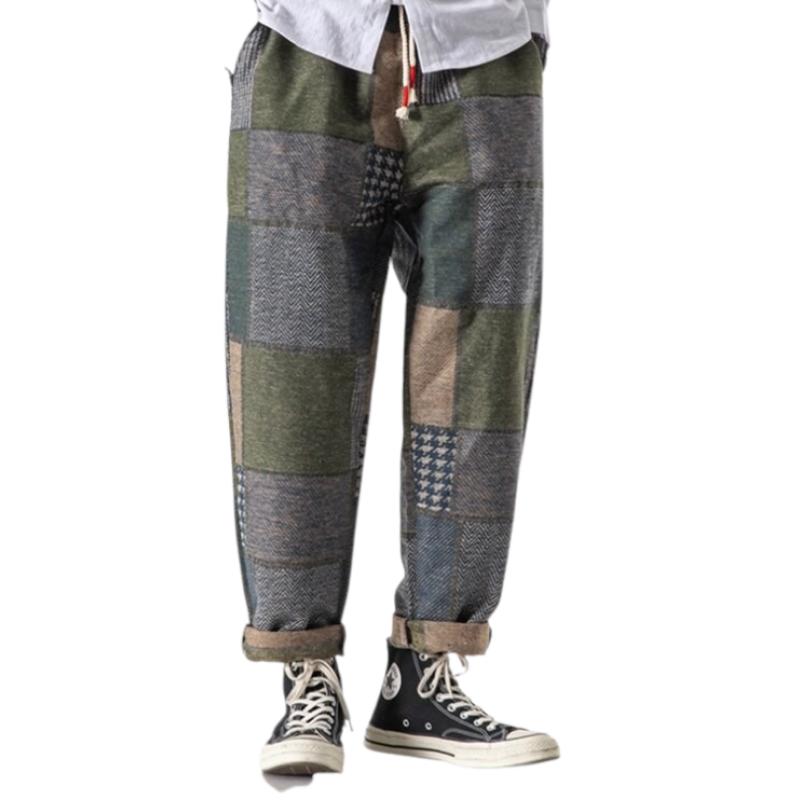 Loose Fit Plaid Pants