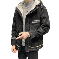 Thick Zipper Hooded Jacket
