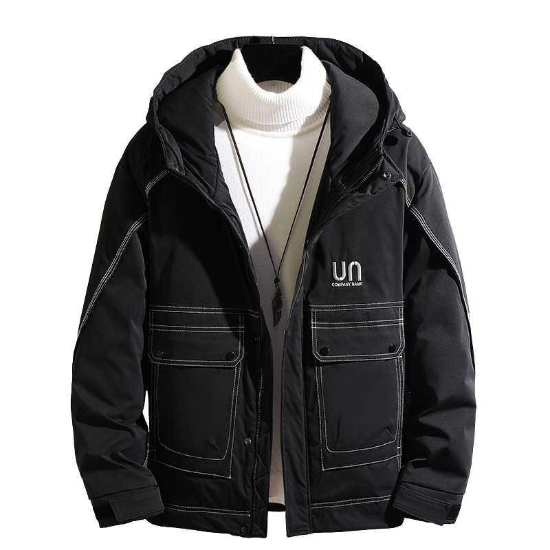 Front Pockets Hooded Coat