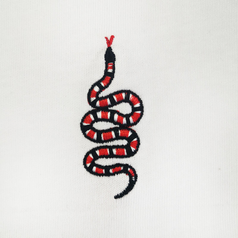 Snake Embroidered Oversized Sweatshirt