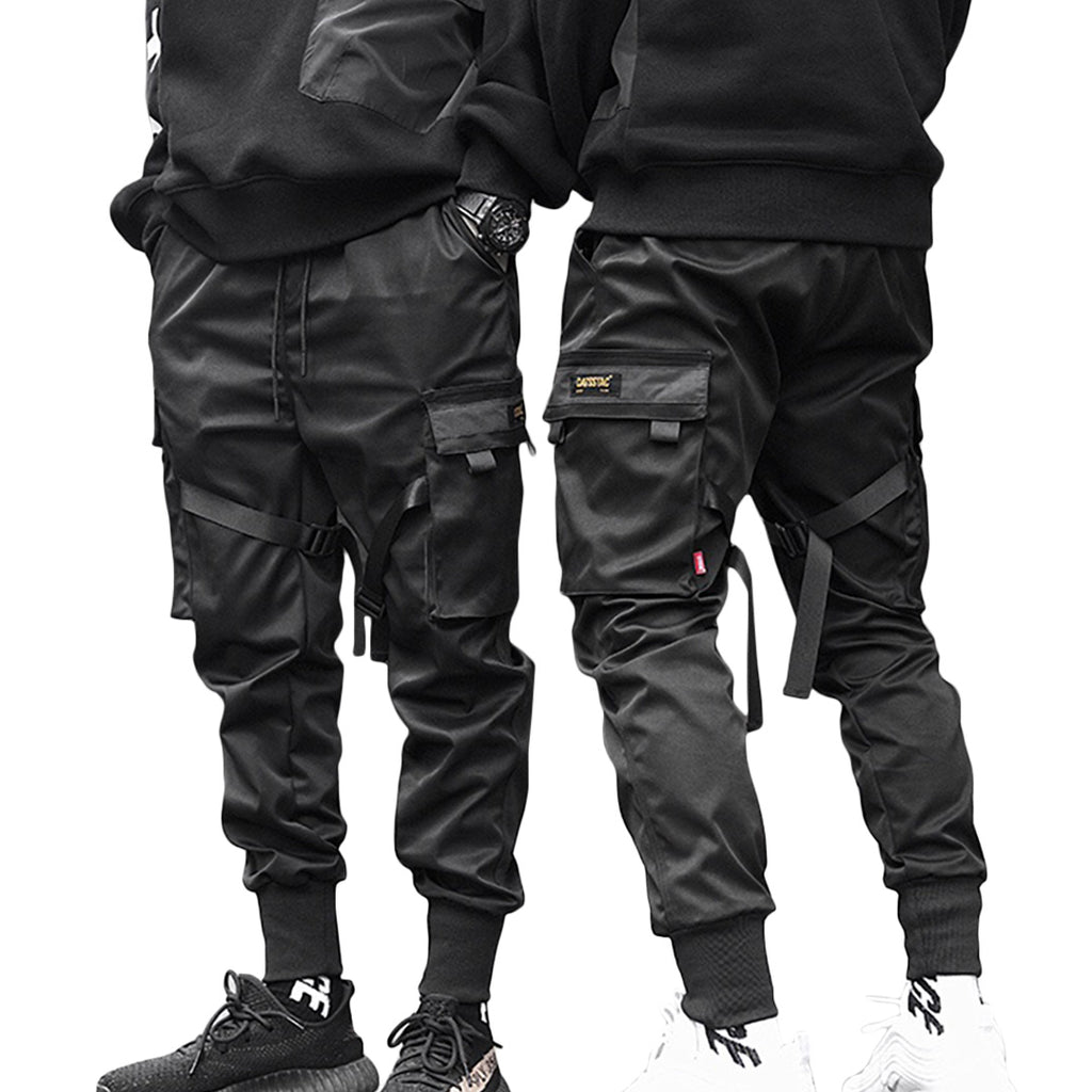 Slate Black Slim-Fit Joggers