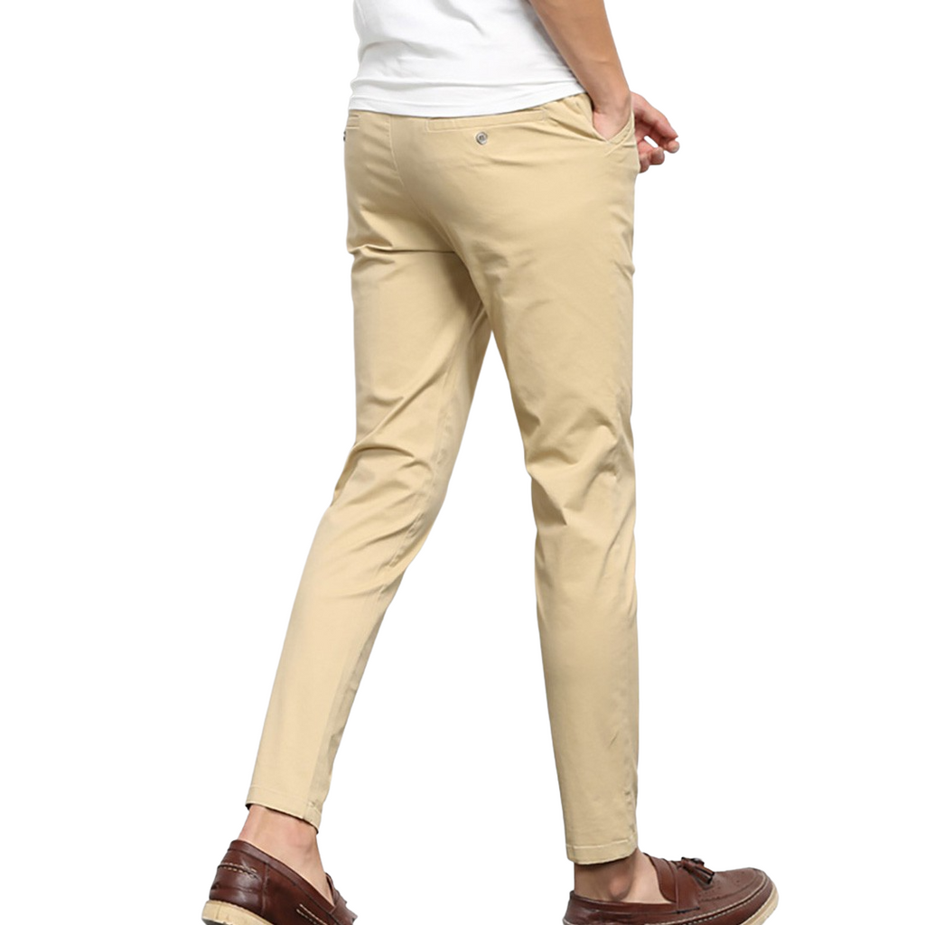 Trendy Solid Chinos