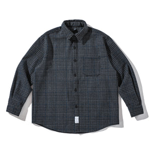 Thick Plaid Button-Down Shirt