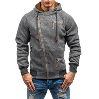 Cool Asymmetric Zip Up Hoodie