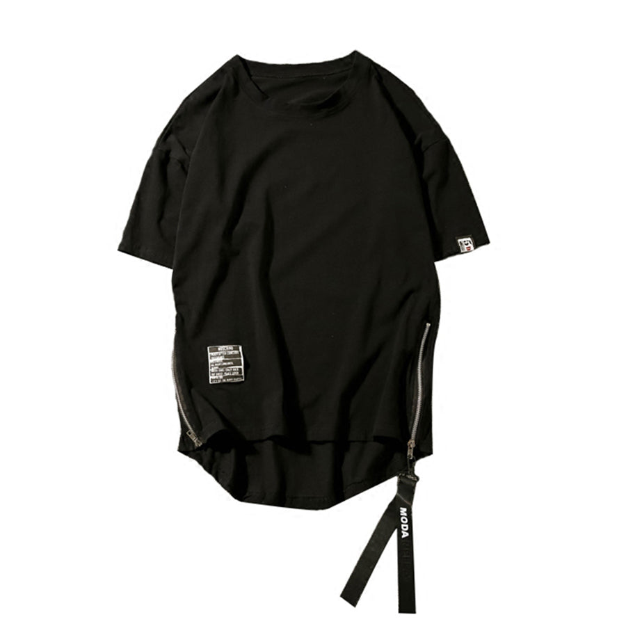 Sided Zipper T-Shirt