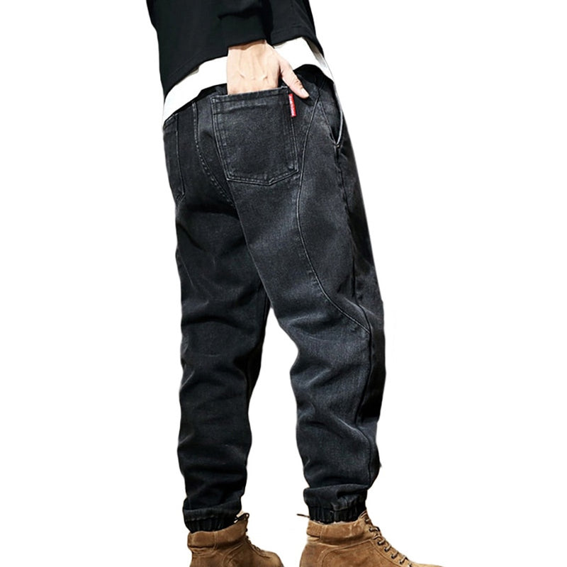 Thick Baggy Denim Joggers
