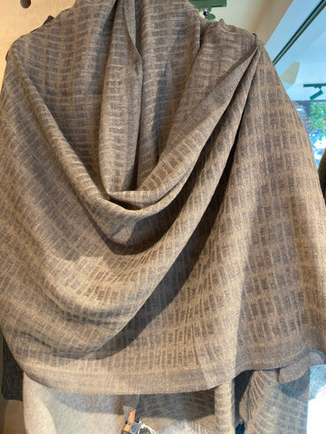 100% Superfine  2ply pure Cashmere Scarf - Block design Brown colour / for both / men/ women/loved by all age