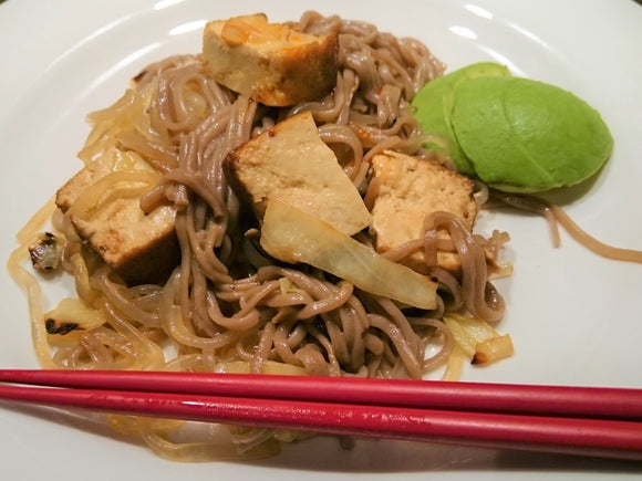 Recipe 8: Vegan Noodles with Tofu -perfectly nutritious dinner for everyone including vegans and gluten-intolerant people