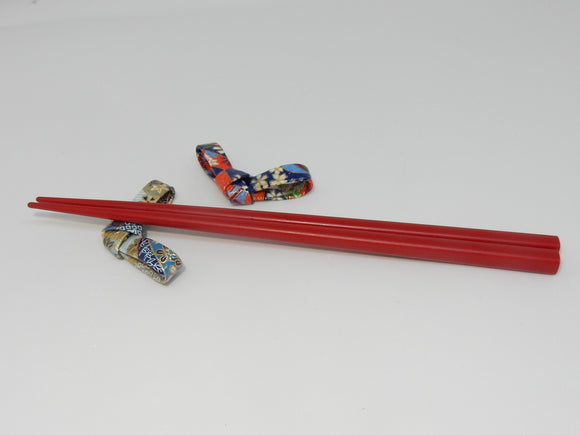 Lacquered Washi paper chopstick rest