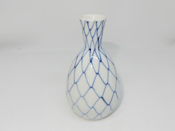 Sake Tokkuri Bottle with a traditional net design