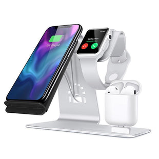 Pacific Pike -  3 in 1 Wireless Apple Charging Station  -  Silver  -