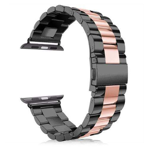 Pacific Pike -  Alloy Bands for Apple Watch 38mm or 40mm  -  Black Rose / SMALL 38MM/40MM  -  Gadgets