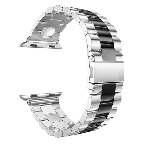 Pacific Pike -  Alloy Bands for Apple Watch 38mm or 40mm  -  Silver Black / SMALL 38MM/40MM  -  Gadgets