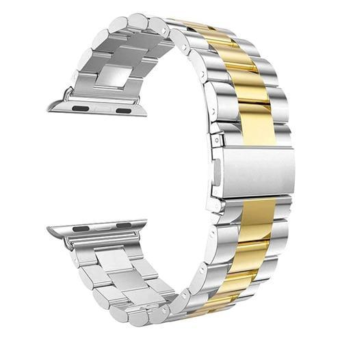 Pacific Pike -  Alloy Bands for Apple Watch 38mm or 40mm  -  Silver Gold / SMALL 38MM/40MM  -  Gadgets