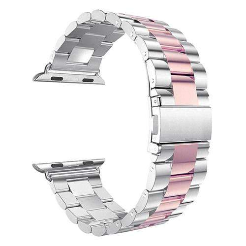 Pacific Pike -  Alloy Bands for Apple Watch 38mm or 40mm  -  Silver Pink Gold / SMALL 38MM/40MM  -  Gadgets