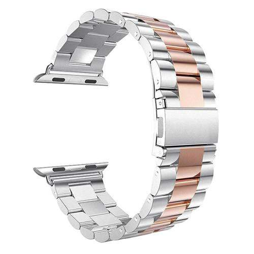 Pacific Pike -  Alloy Bands for Apple Watch 38mm or 40mm  -  Silver Rose / SMALL 38MM/40MM  -  Gadgets