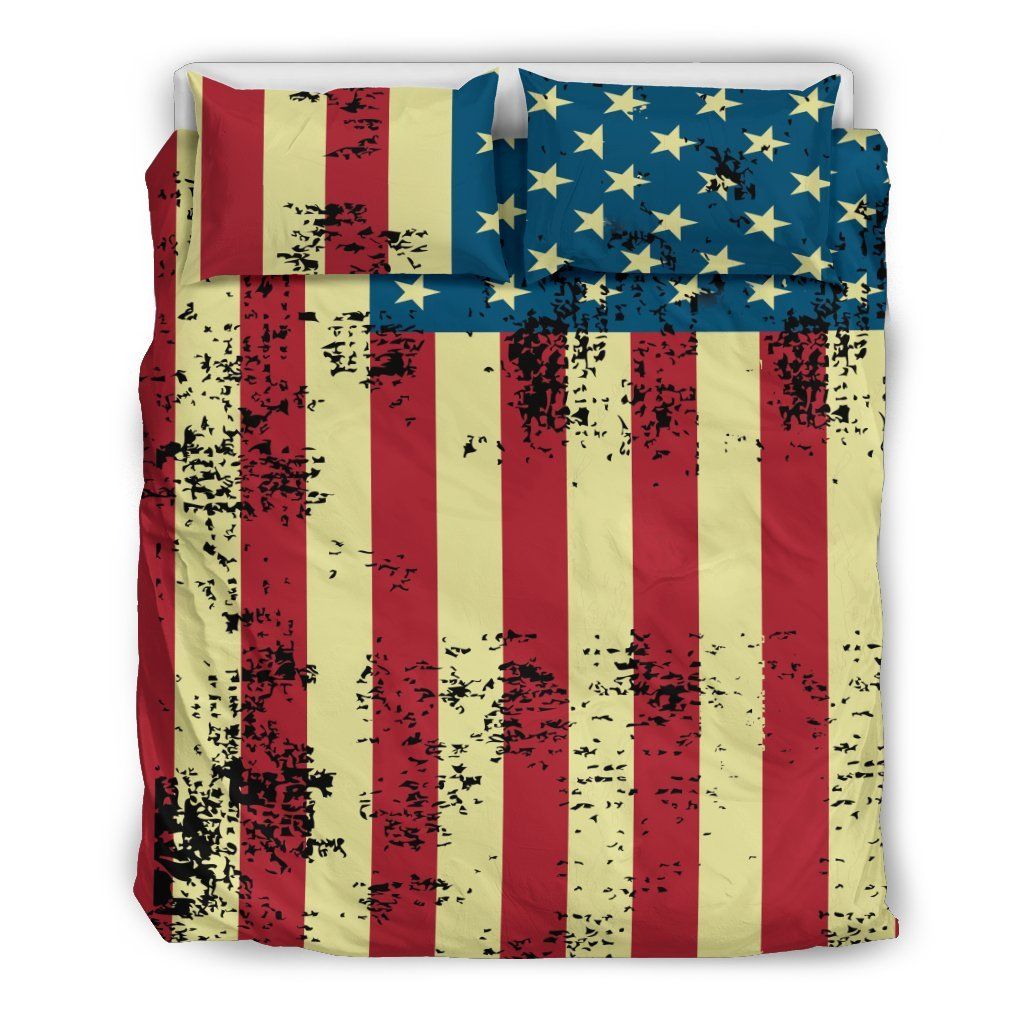 Pacific Pike -  American Flag Bedding Set  -  Bedding Set / US Queen/Full  -  Bedding Set