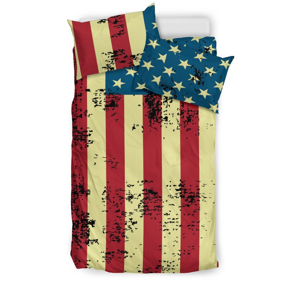 Pacific Pike -  American Flag Bedding Set  -  Bedding Set / US Twin  -  Bedding Set