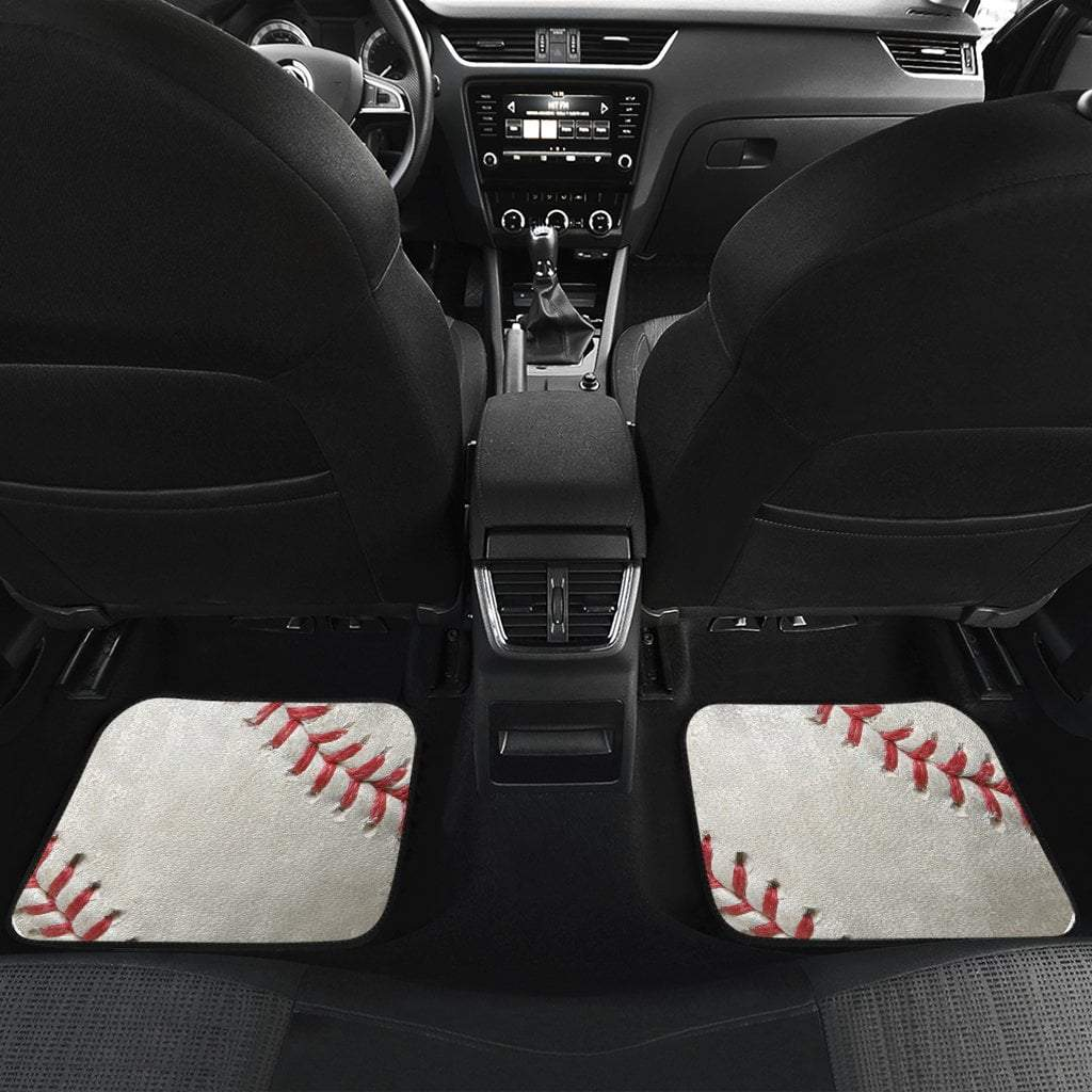 Pacific Pike -  Baseball Front And Back Floor Mats (Set of 4)  -  Baseball Front And Back Car Mats (Set of 4)  -  Car Accessories