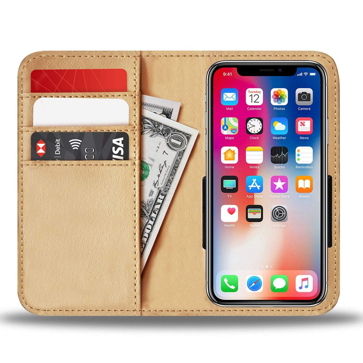 Pacific Pike -  Baseball Love Custom Wallet Phone Case  -  iPhone X / Xs  -  Wallet Case