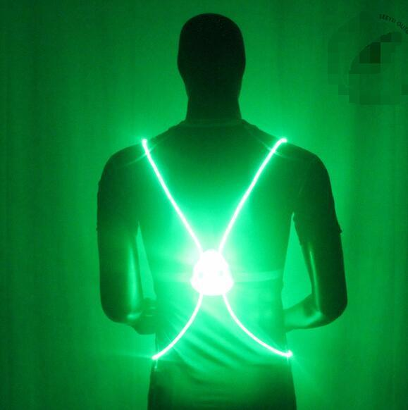 Pacific Pike -  BrightBug™ LED Visibility Vest  -  Green  -  Running Vest