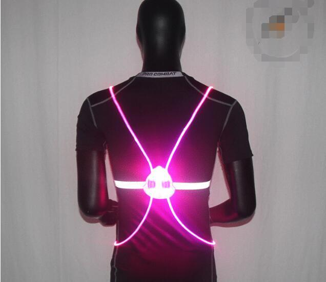 Pacific Pike -  BrightBug™ LED Visibility Vest  -  Pink  -  Running Vest