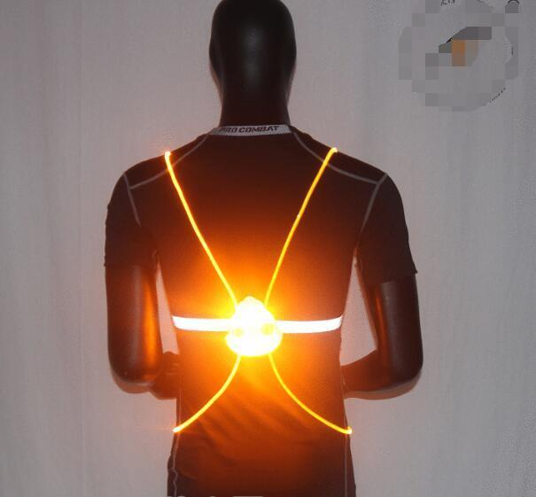 Pacific Pike -  BrightBug™ LED Visibility Vest  -  Red  -  Running Vest